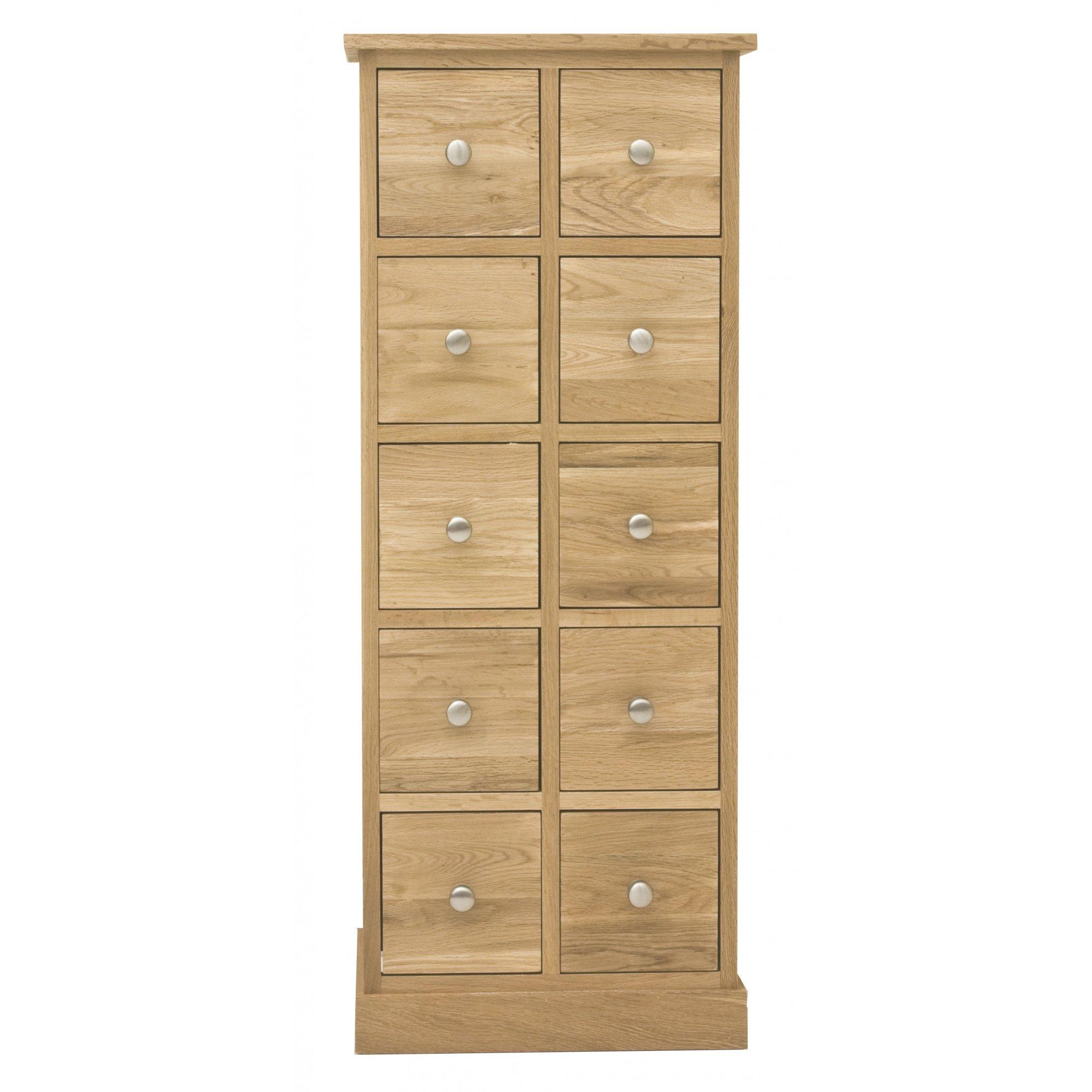 mobel oak multi drawer dvd cd storage chest. Black Bedroom Furniture Sets. Home Design Ideas
