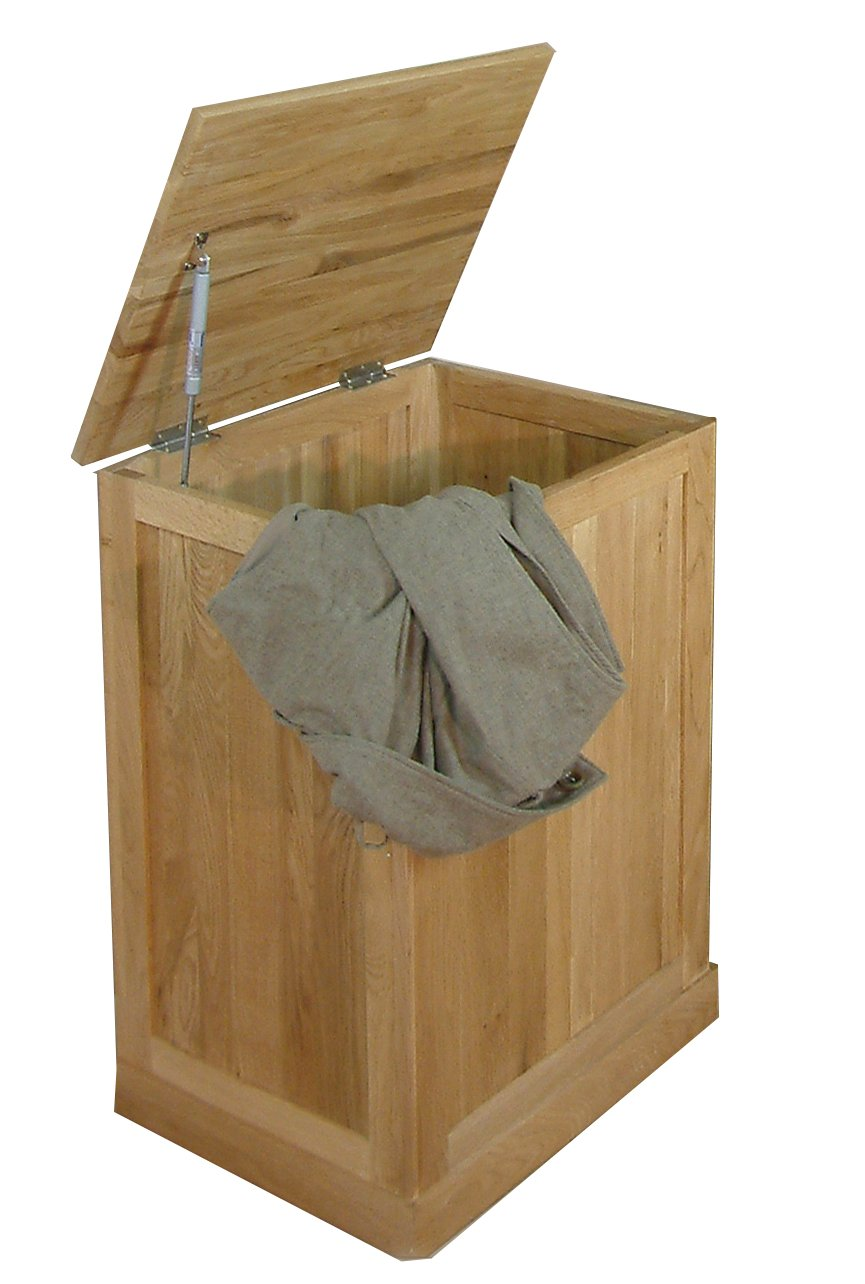 mobel oak laundry bin main image