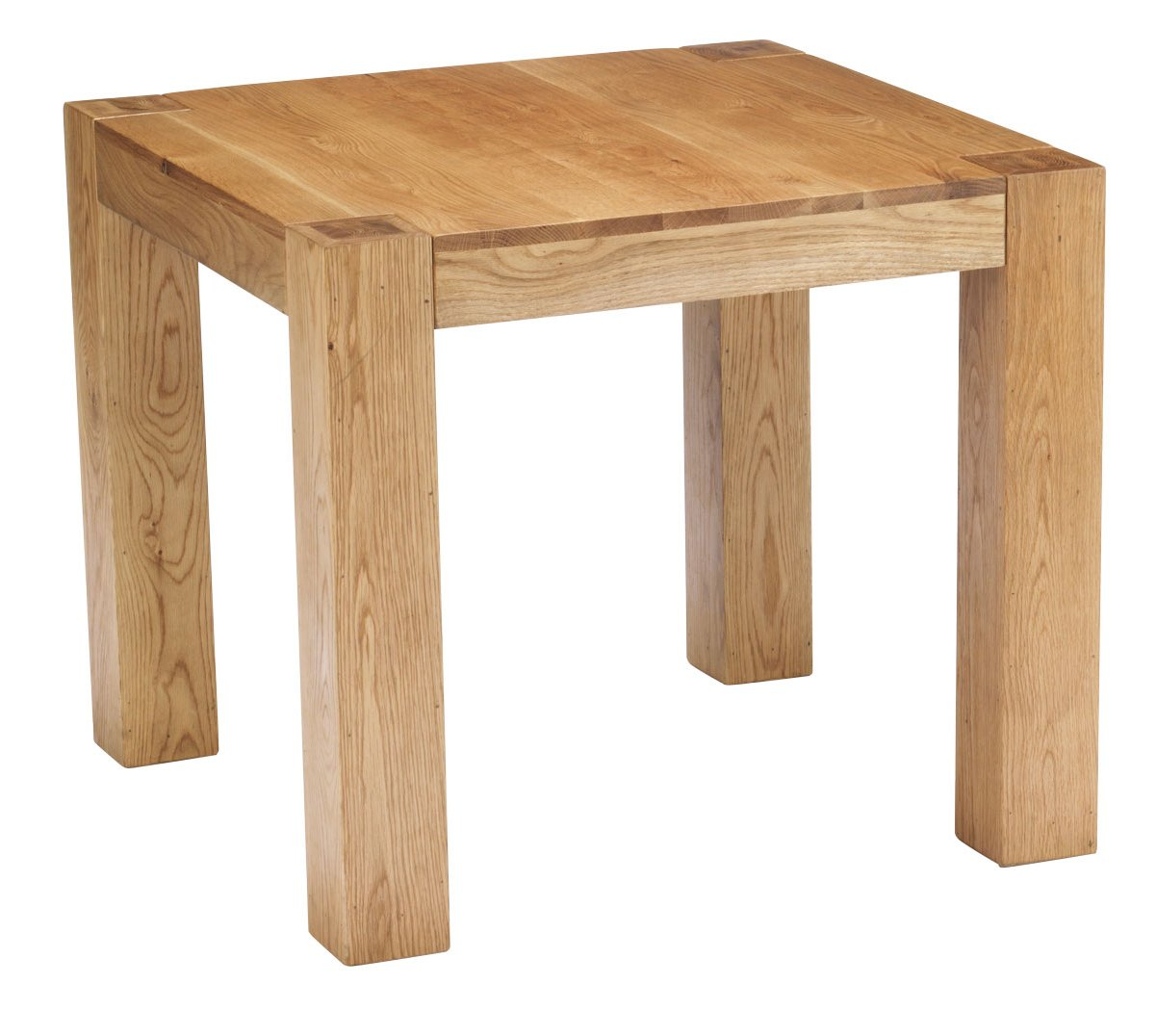 Chunky oak square dining table for Square dining table
