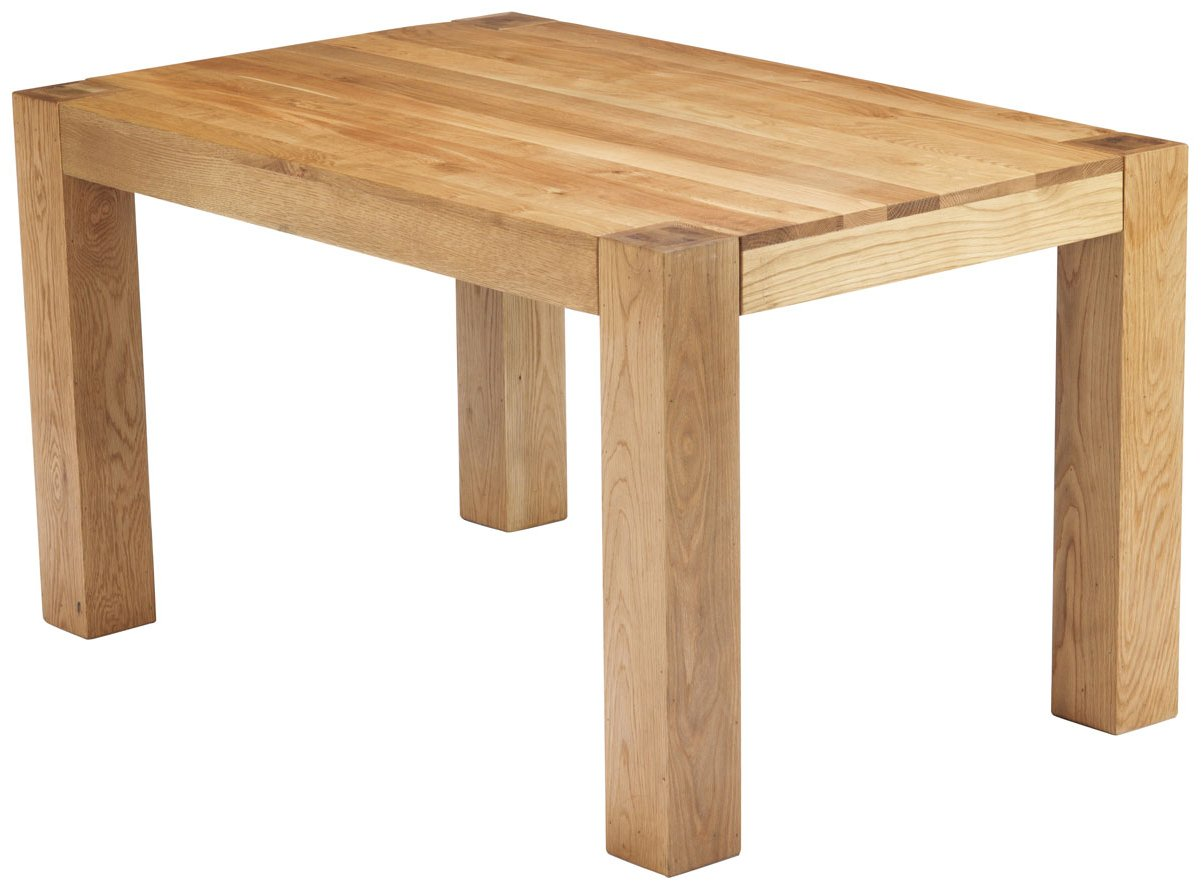 Chunky oak dining table chunky oak dining table 1 4m for Oak dining table
