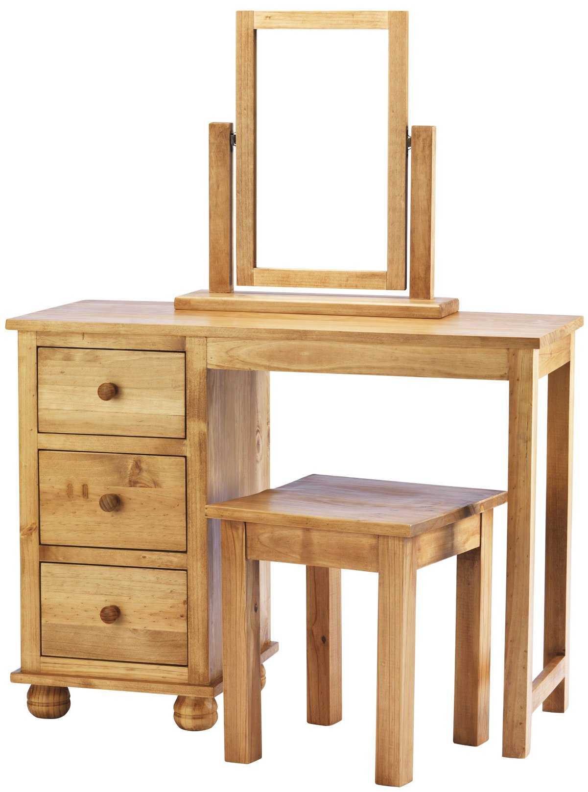 Pine Dressing Table ~ Dorset solid pine dressing table with stool and mirror