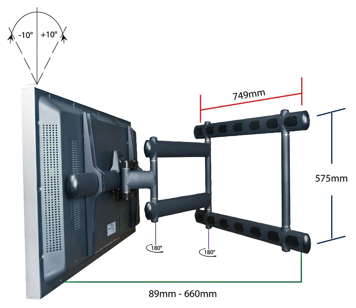 premier mounts am300 black tv wall brackets. Black Bedroom Furniture Sets. Home Design Ideas