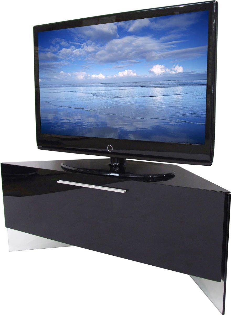 High Gloss tv Corner Unit High Gloss Black Corner tv