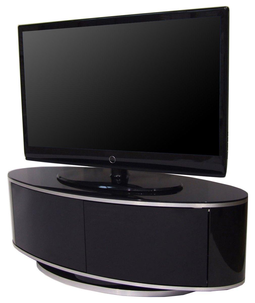 luna high gloss black oval tv cabinet. Black Bedroom Furniture Sets. Home Design Ideas