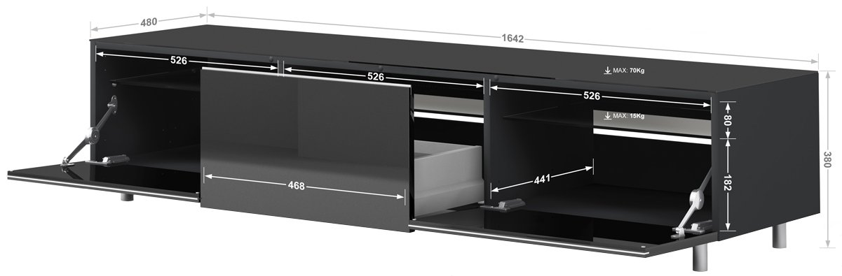 Just Racks by Spectral JRL1650 TV Stands