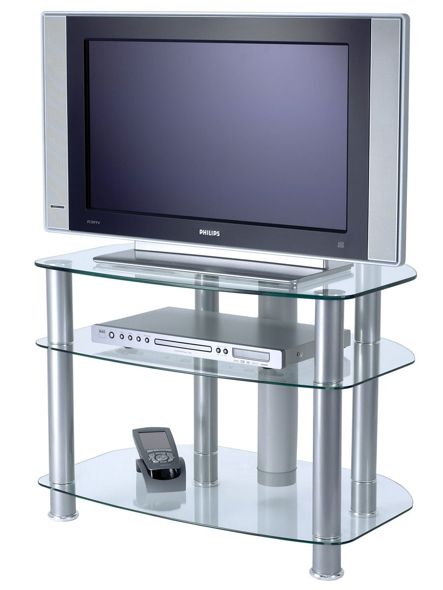 glass tv stand alphason clear glass tv stand for up to 32 quot tvs 28585