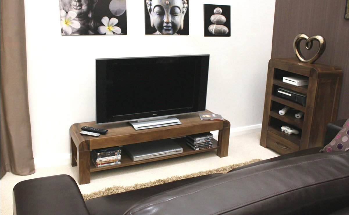 Shiro Walnut Low Television Cabinet