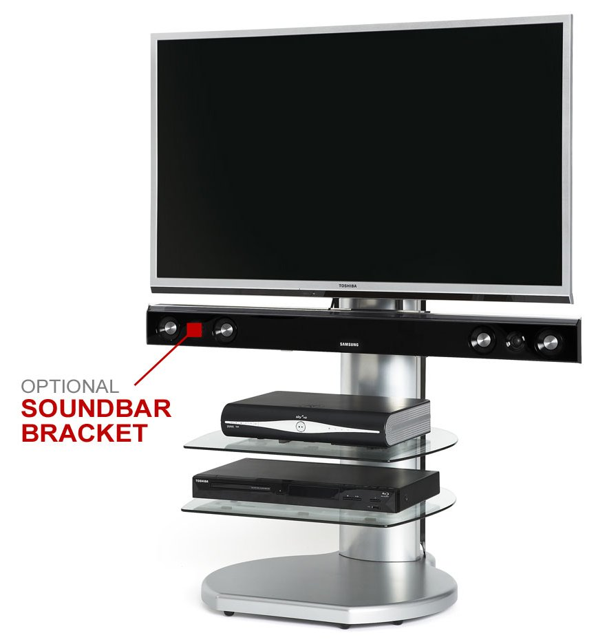 Off The Wall Origin Ii S4 Silver Tv Stands Soundbar And Mount Ts100 Stand Bluesound