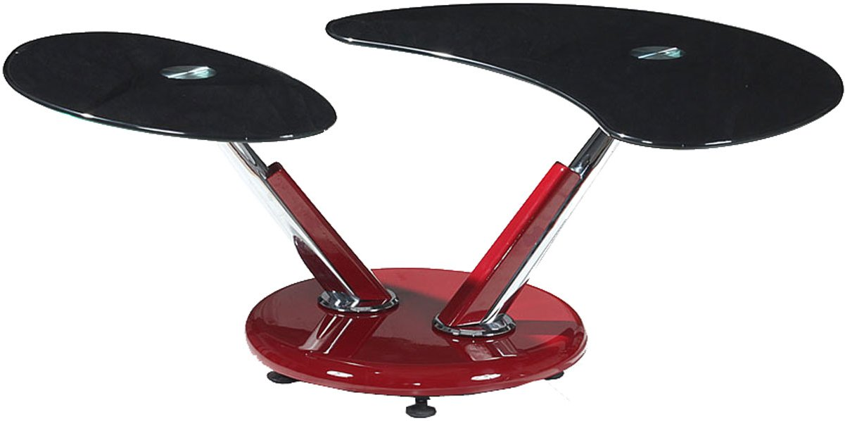 Torre black chrome and red coffee table Black and chrome coffee table