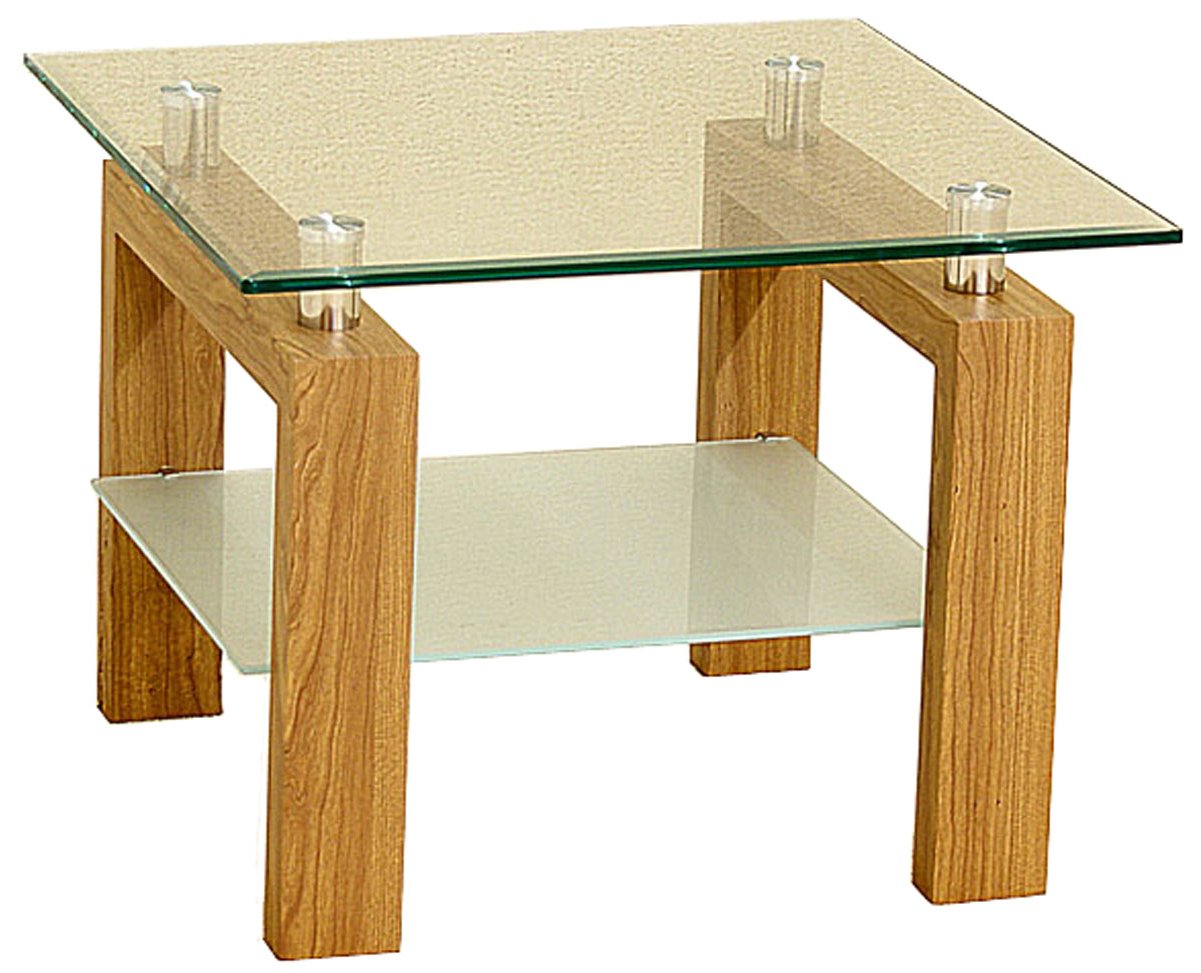 Oak And Glass Table Lamps: Adina Clear Glass And Oak Lamp Table