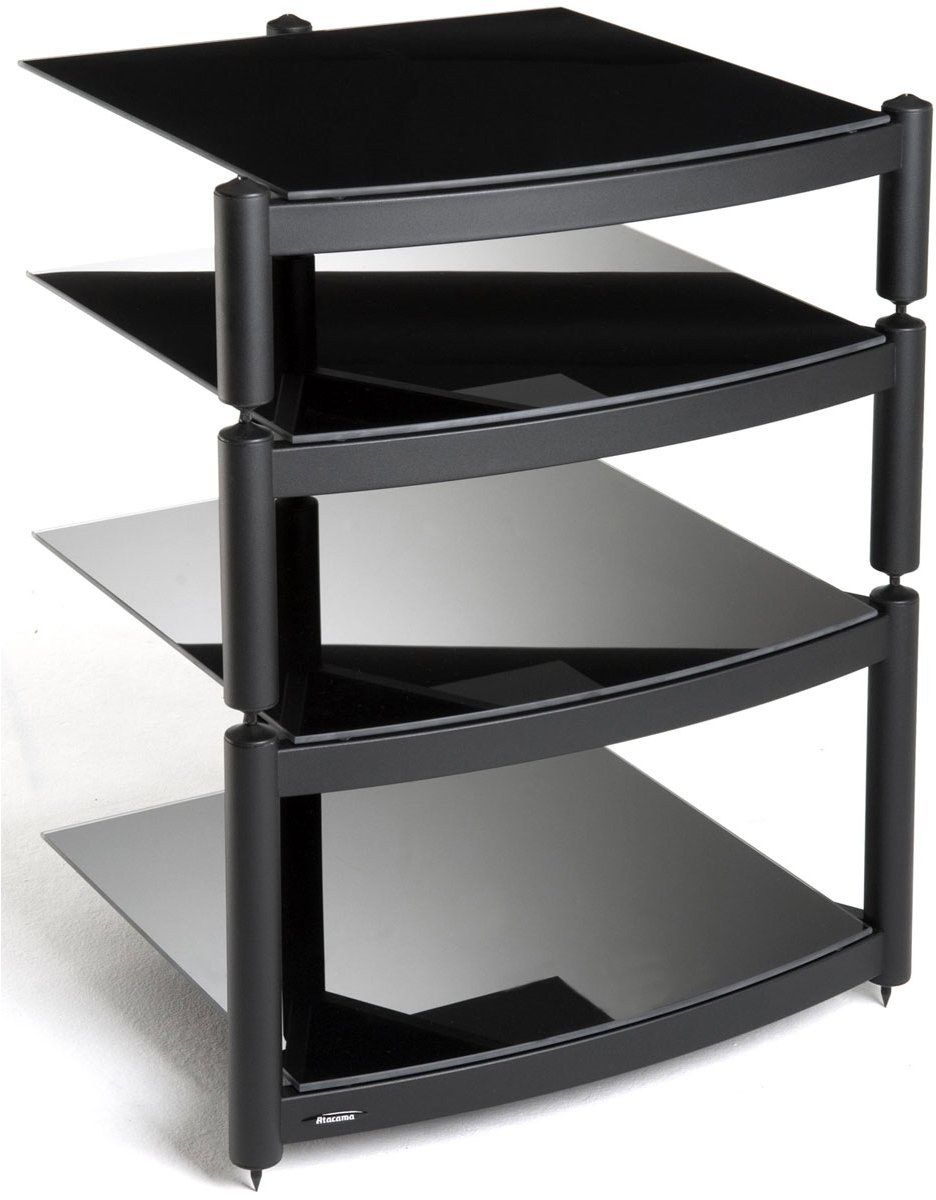 equinox a r c black 4 shelf r s hifi stand. Black Bedroom Furniture Sets. Home Design Ideas