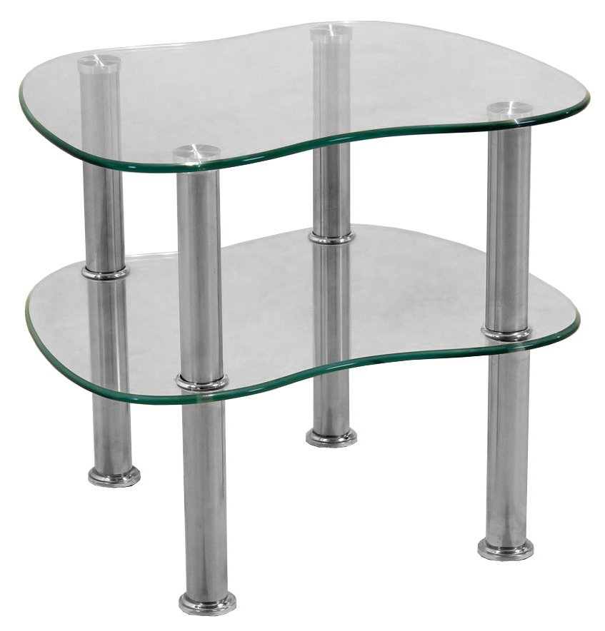 Hudson clear glass side table for Glass end tables