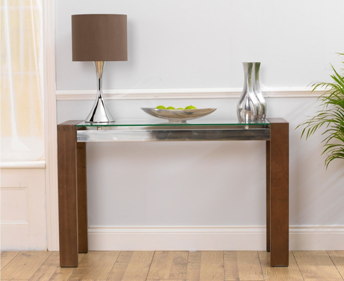 Top Walnut and Glass Console Table 1201 x 982 · 101 kB · jpeg