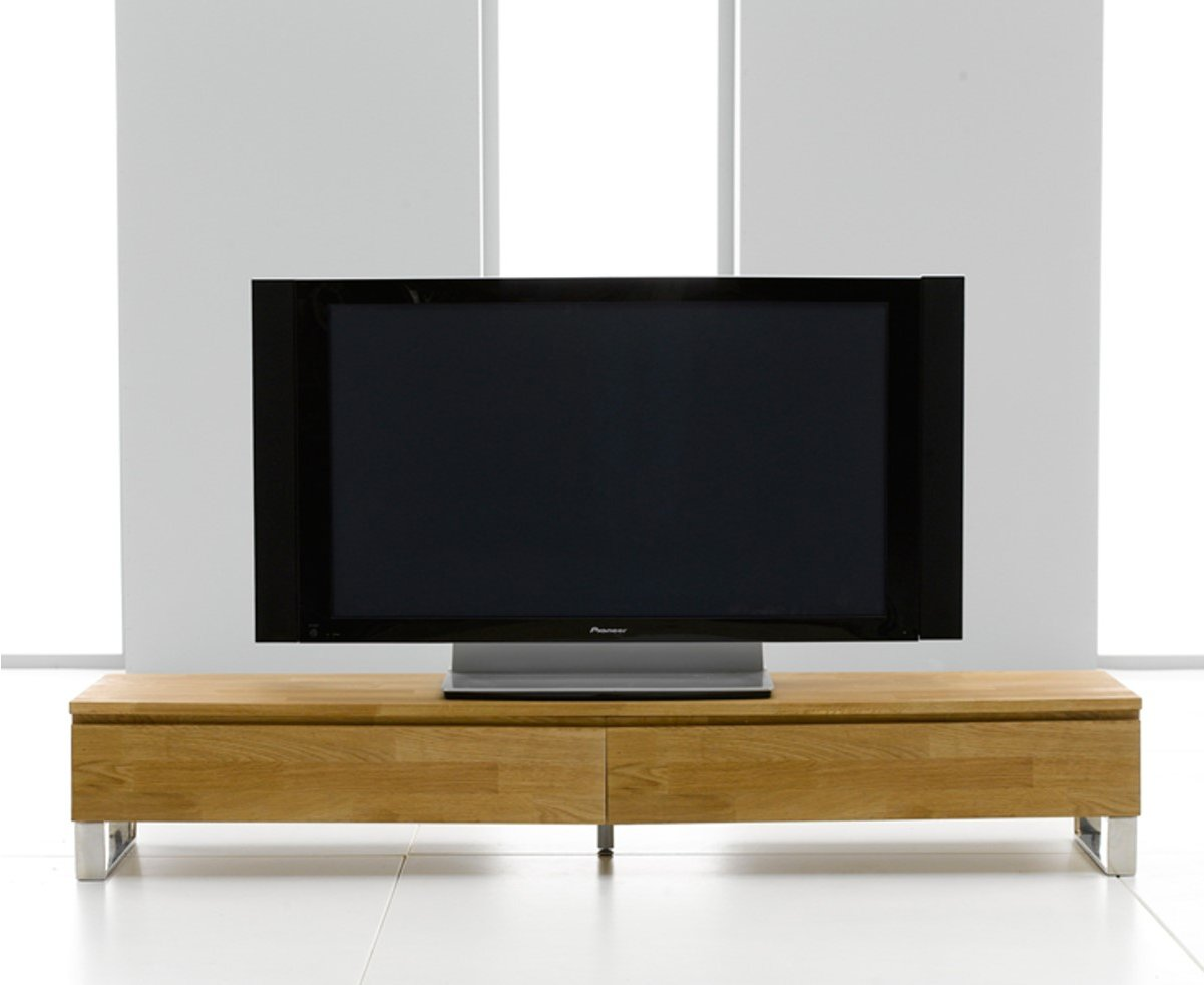 cardinal solid oak tv stand with chrome legs. Black Bedroom Furniture Sets. Home Design Ideas