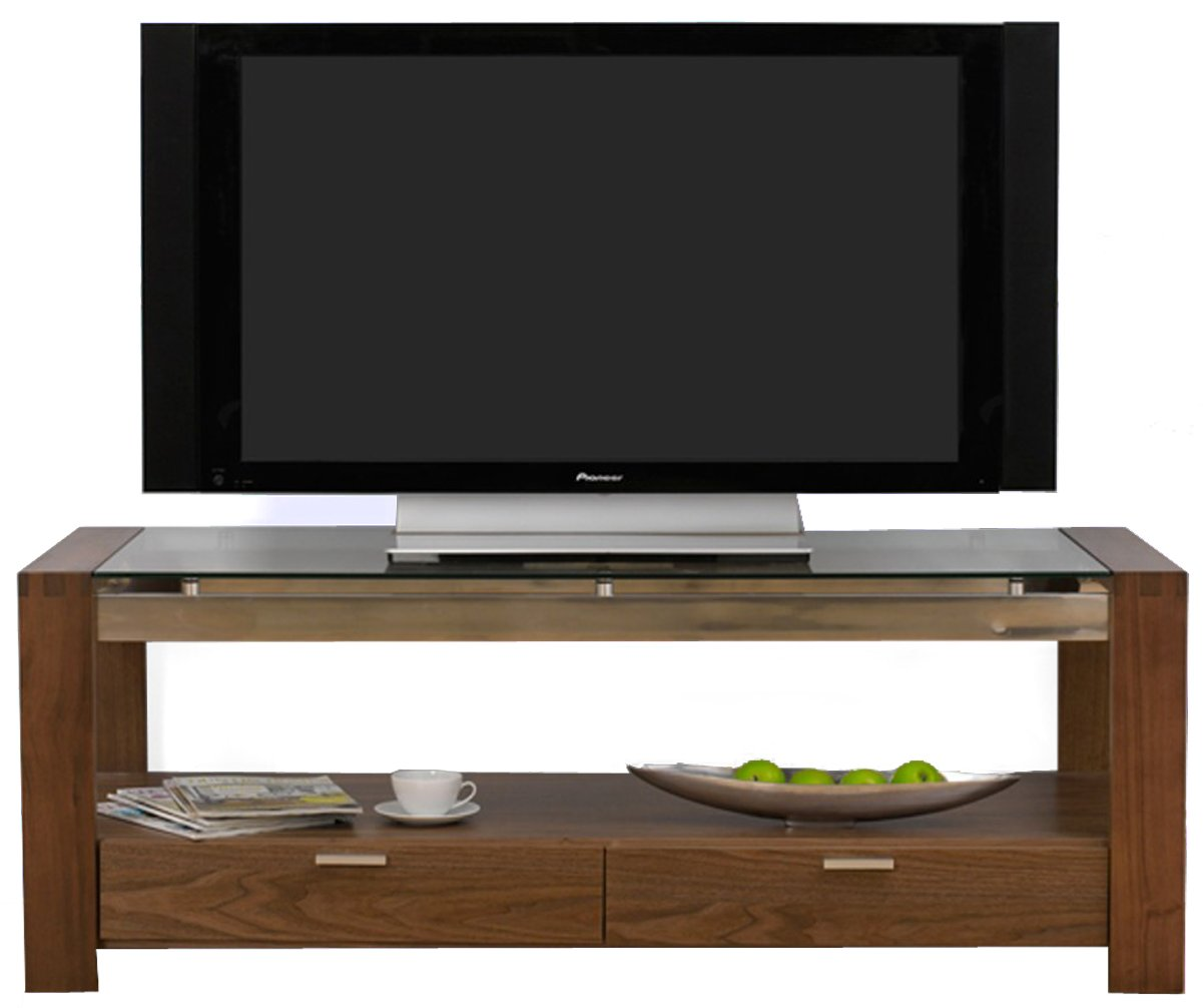 Wall Unit Designs Mark Harris Roma Walnut And Clear Glass Tv Stand