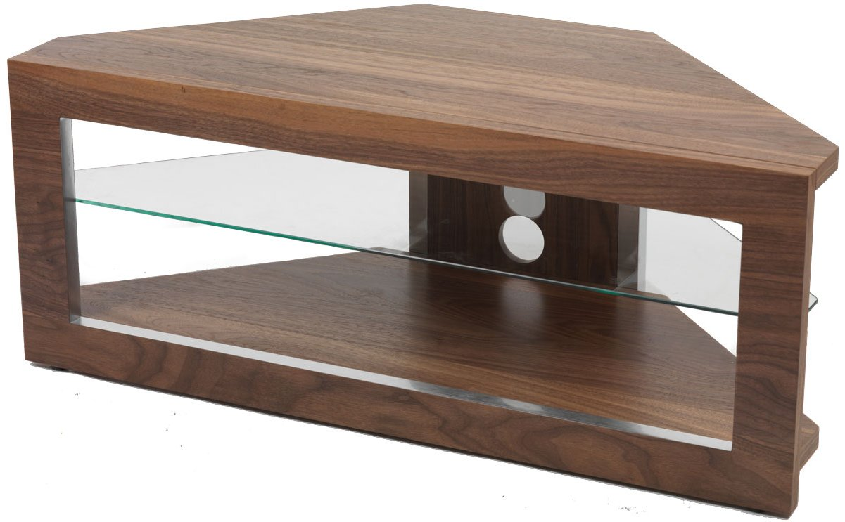 Iconic Lindi TX7000 Walnut Corner TV Stand for screens up to 50""