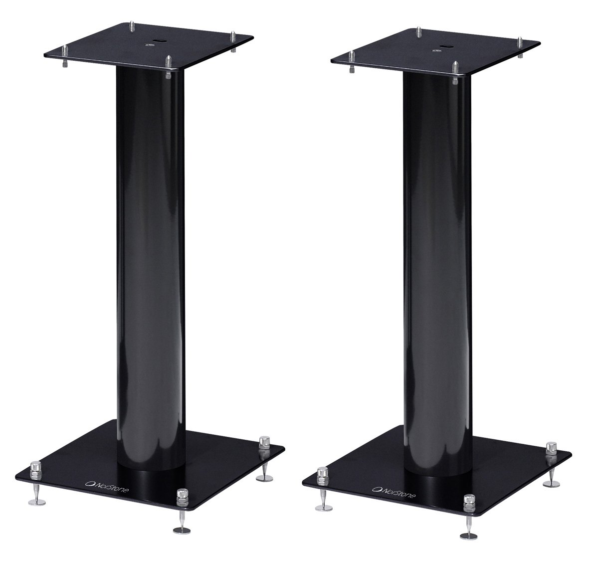 Norstone Pair of Black Speaker Stands 500mm