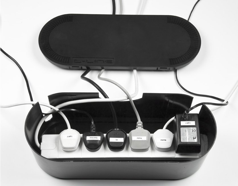 office cable tidy. Cable Management Box For 6-way Socket Main Image Office Tidy M