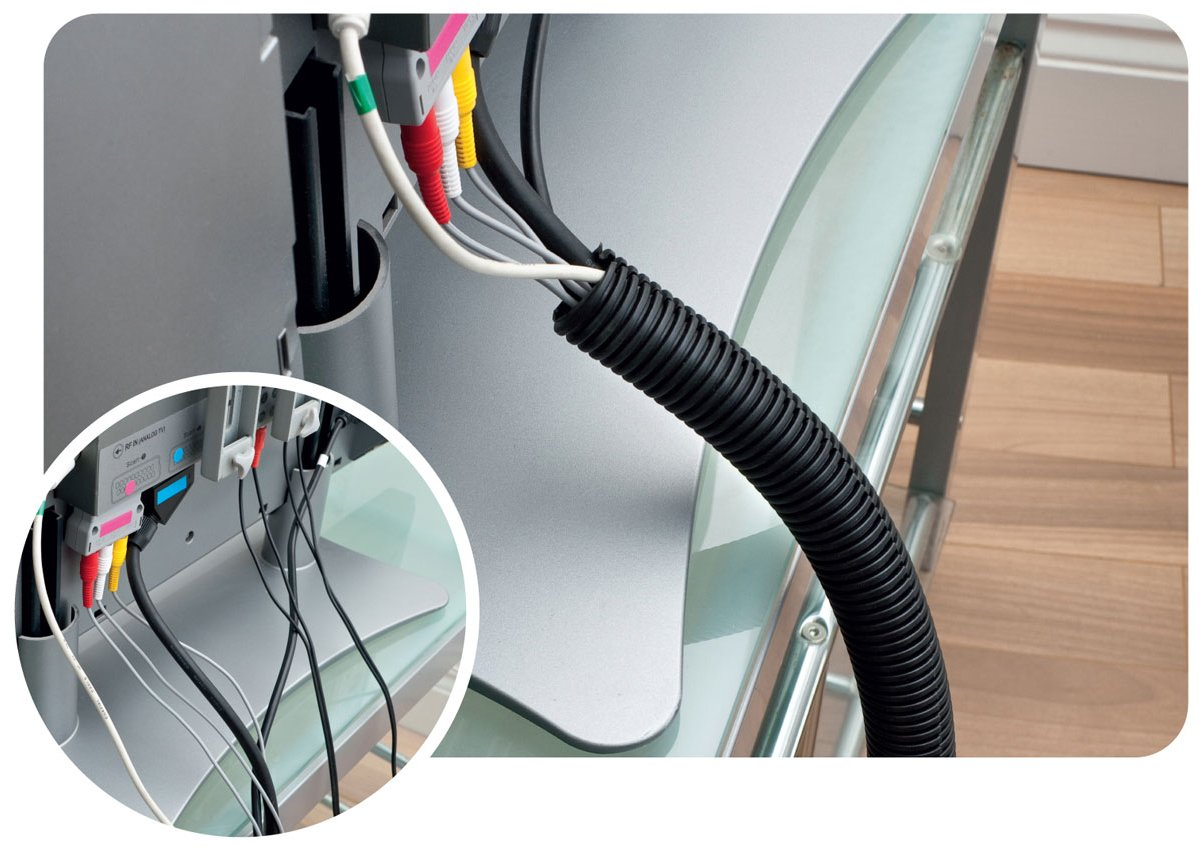 Cable Trunking Product : D line cable tidy tube trunking
