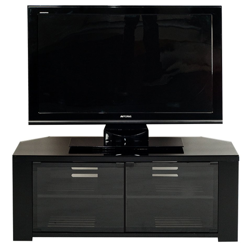 Optimum Edge 1150 Satin Black Tv Stands