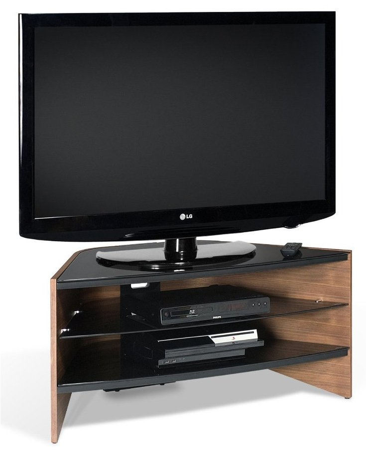 Techlink Rv100w Riva Walnut Black Tv Stand For Up To 50 Inch