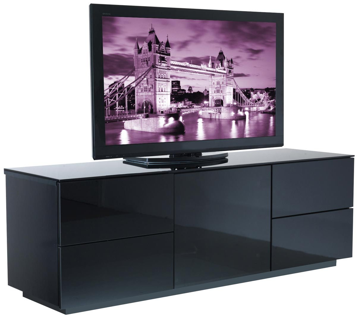 UK-CF London BLK Fully Assembled TV Stands