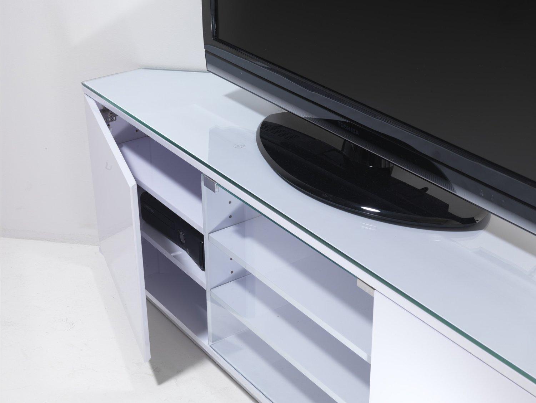uk cf milan wht fully assembled tv stands. Black Bedroom Furniture Sets. Home Design Ideas