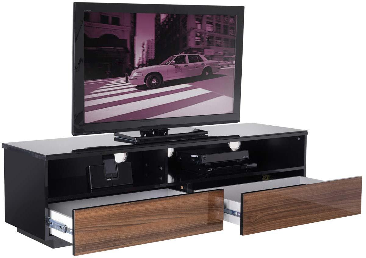 uk cf new york walnut fully assembled tv stands. Black Bedroom Furniture Sets. Home Design Ideas
