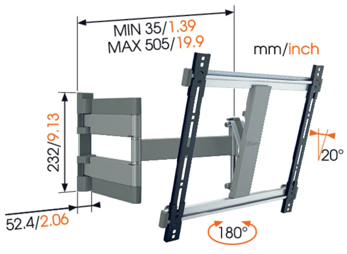 Vogel S Thin 245 Thin Series Wall Bracket For 26 Quot To 55