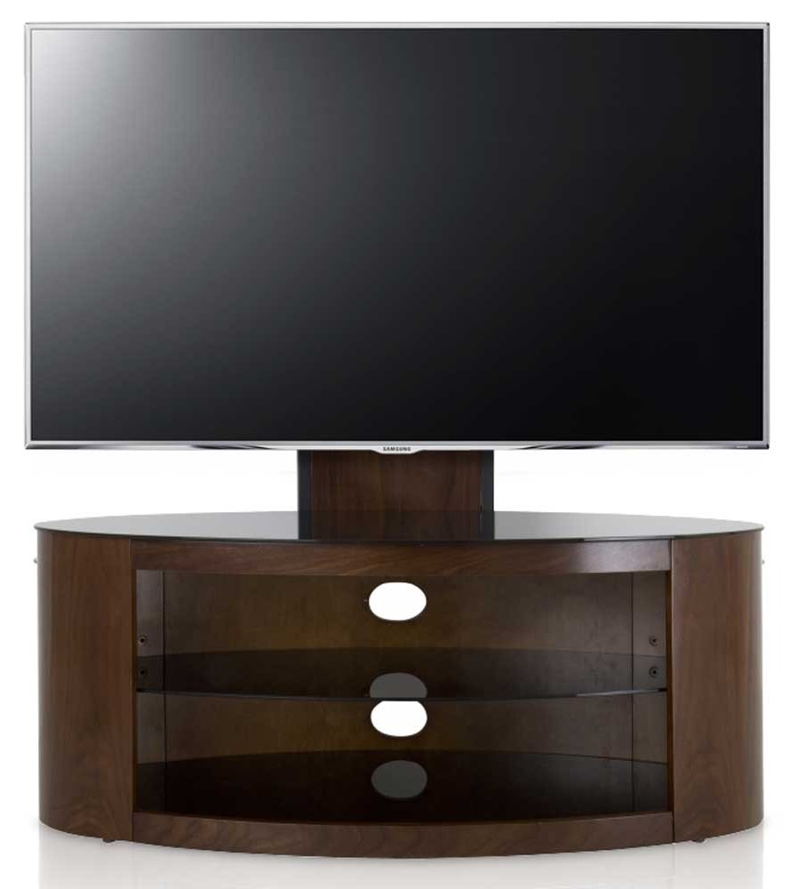 avf buckingham walnut cantilever tv stand. Black Bedroom Furniture Sets. Home Design Ideas