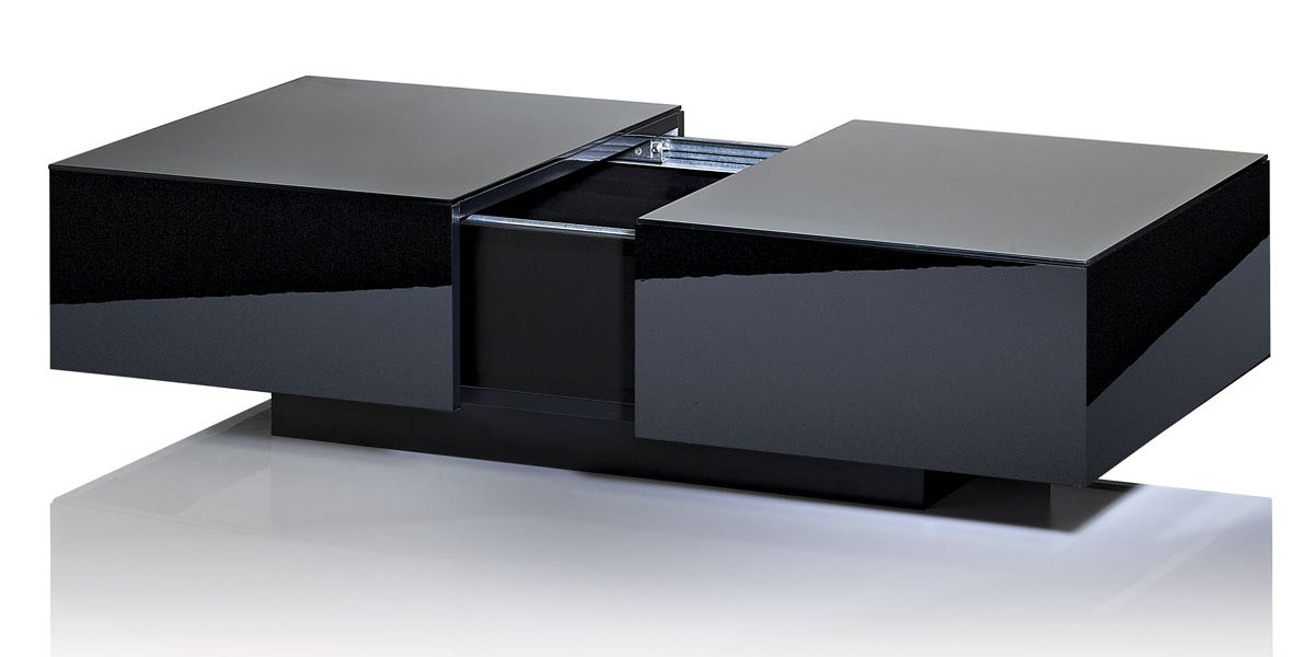 Uk cf g ct bl coffee tables - Table basse design noire ...
