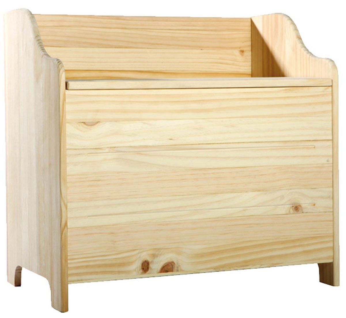 Natural Pine Storage Bench