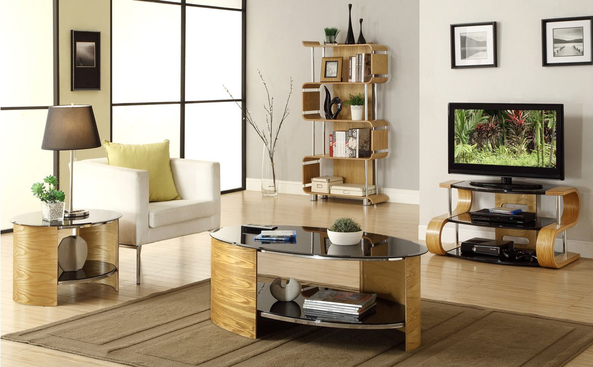 Delightful Jual Florence Curved Oak And Glass TV Stand For Up To 37\u0027\u0027