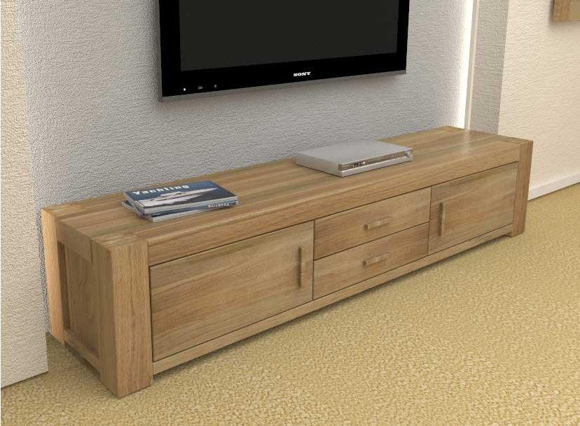 baumhaus cmr09a atlas solid oak tv cabinet. Black Bedroom Furniture Sets. Home Design Ideas