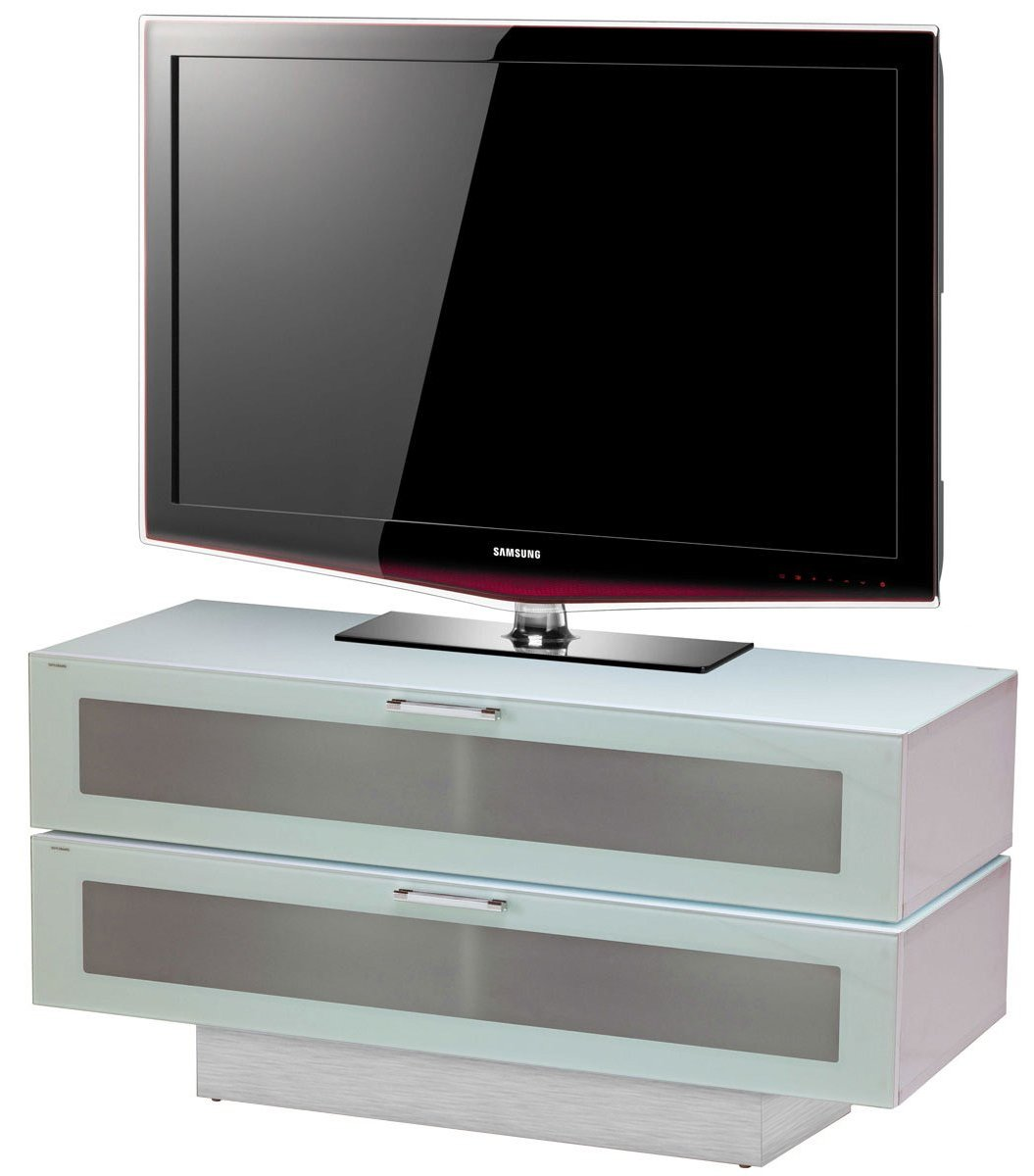 """Stil-Stand High Gloss White 2 Tier TV Cabinet for up to 50\"""" TVs"""