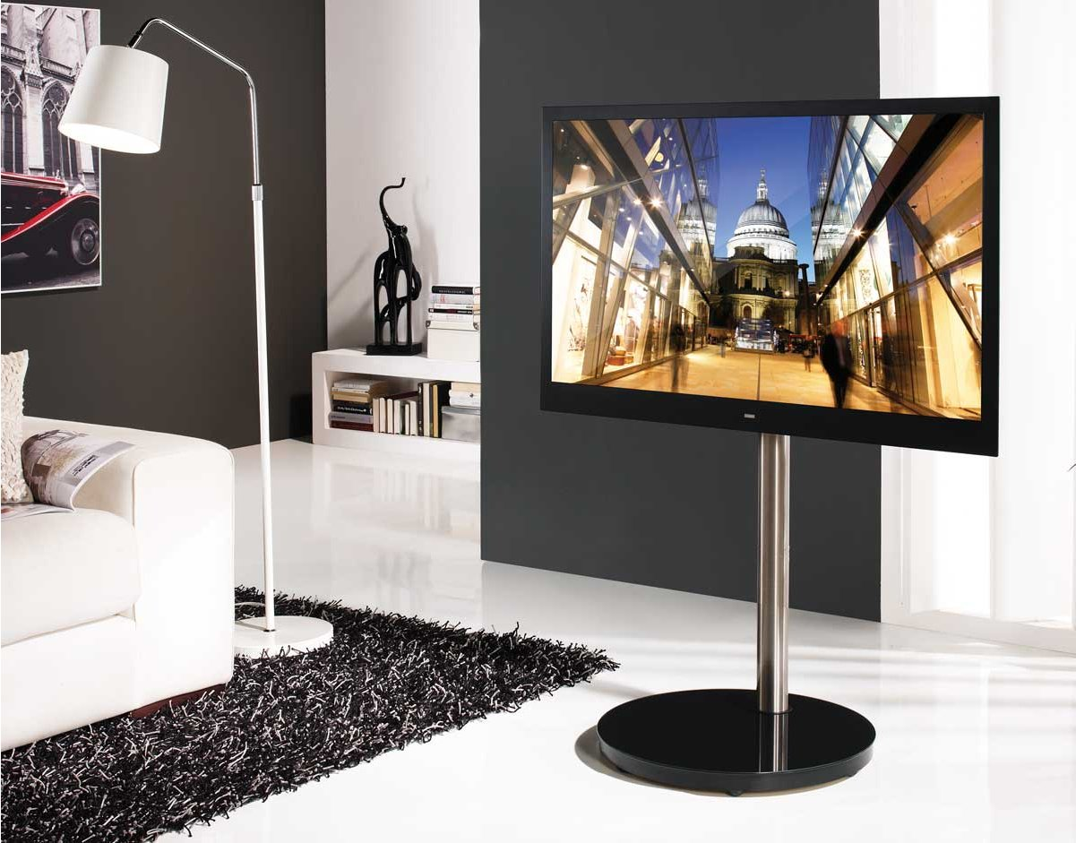 B Tech Btf801 Corner Tv Stand With Round Base
