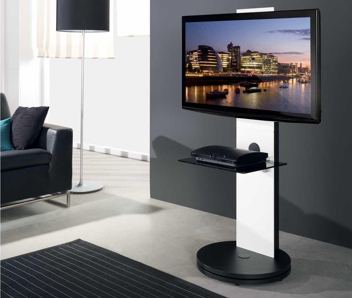 B Tech Btf811 White Corner Cantilever Tv Stand