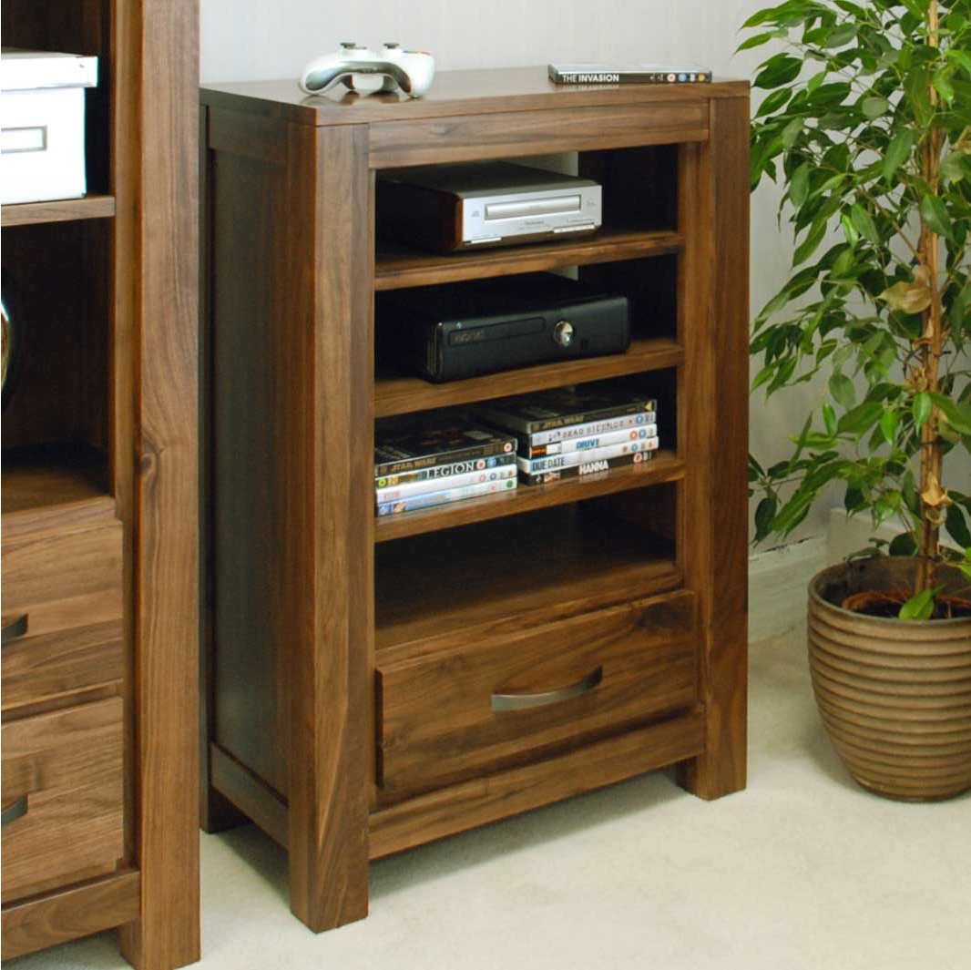 baumhaus cwc09c mayan walnut hifi stand. Black Bedroom Furniture Sets. Home Design Ideas