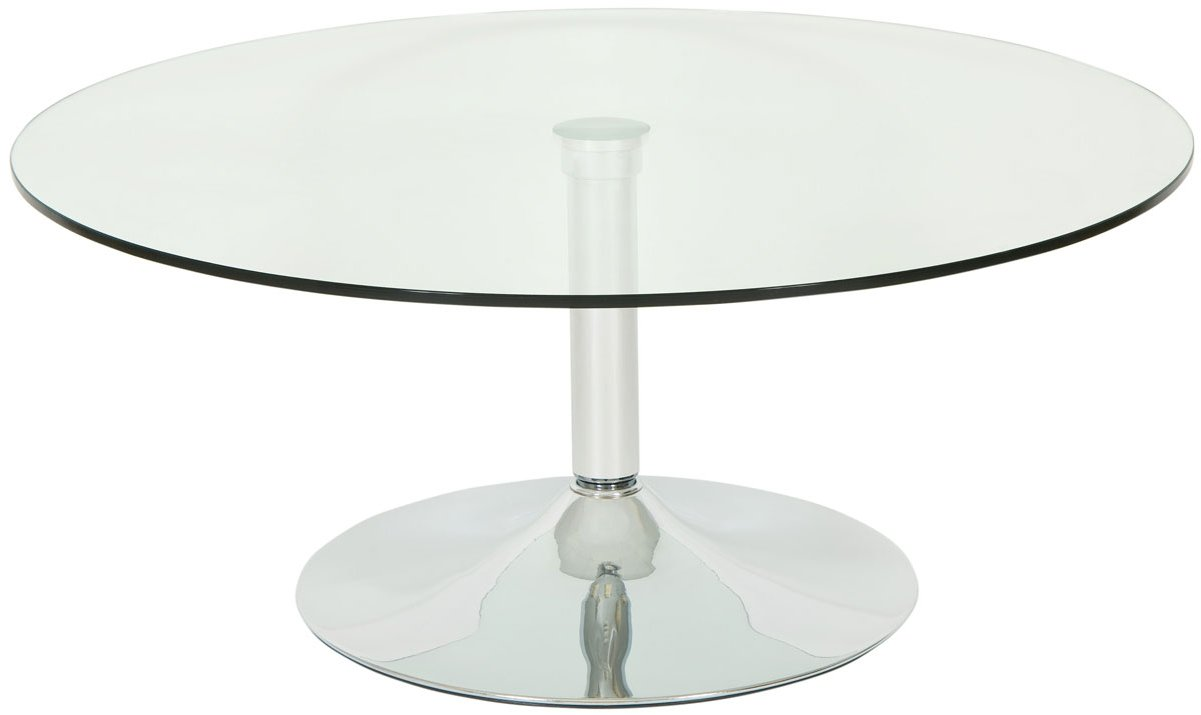 Levv rocofcc roma clear glass round coffee table Clear coffee table