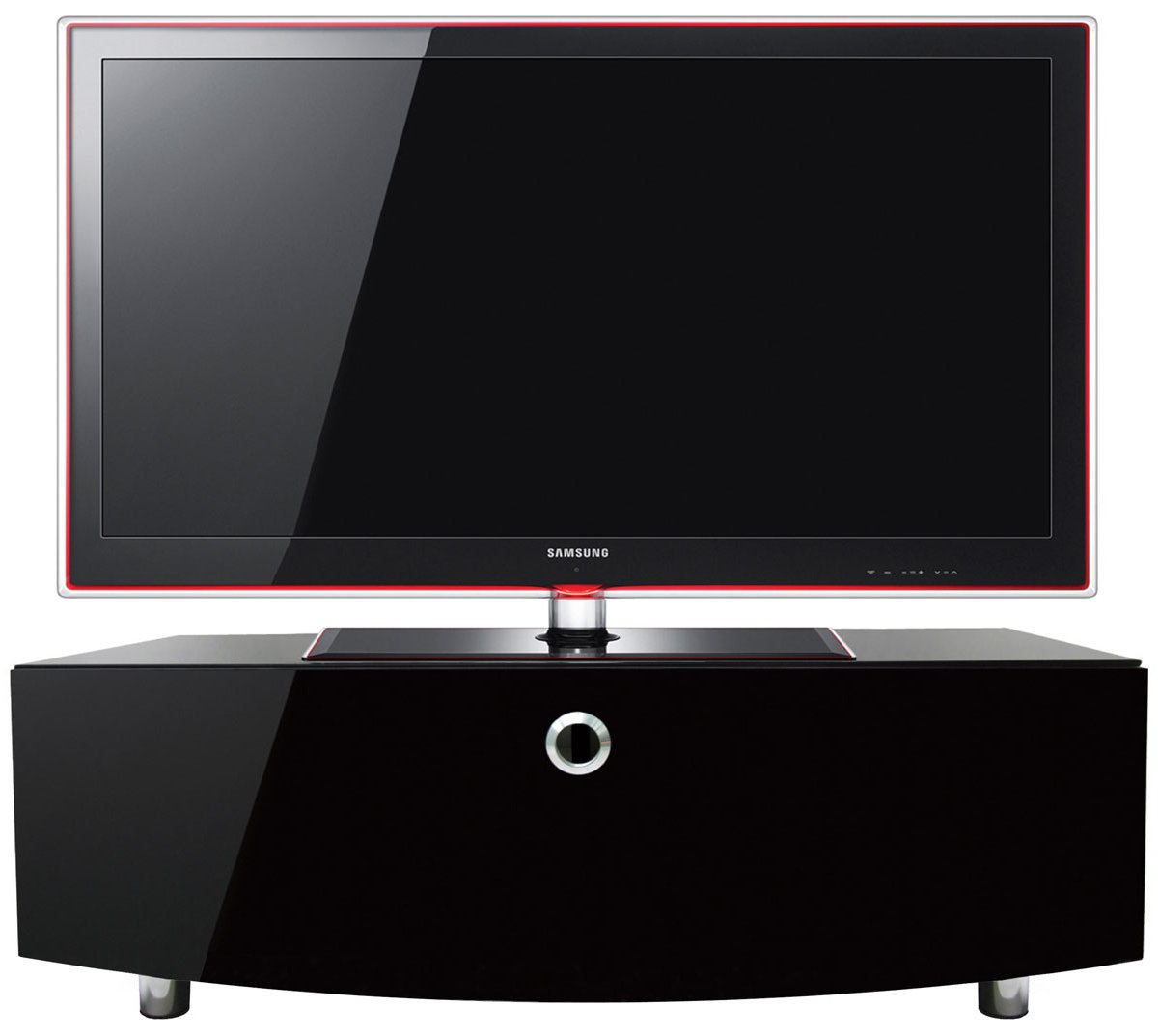 mda designs curve 1000 tv stand black. Black Bedroom Furniture Sets. Home Design Ideas