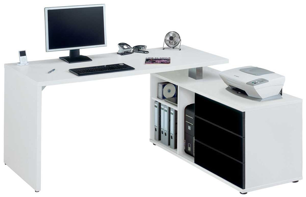 White Corner Workstation Desk Axis White Corner Home