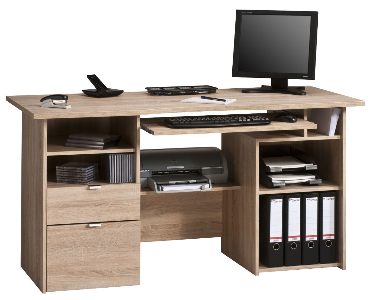Maja kensington oak computer desk - Tesco office desk ...