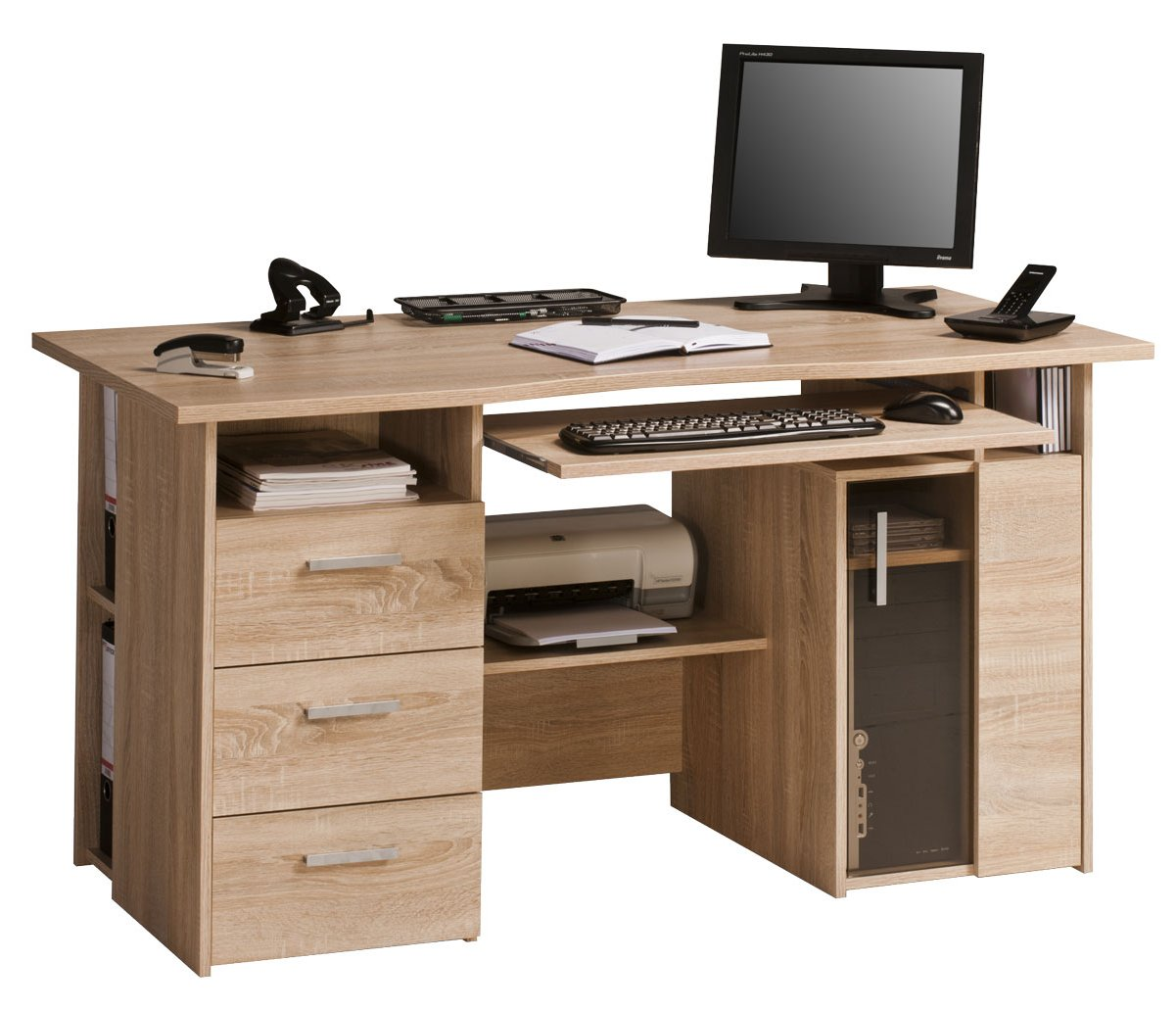 Maja Capital Oak Computer Desk Main Image