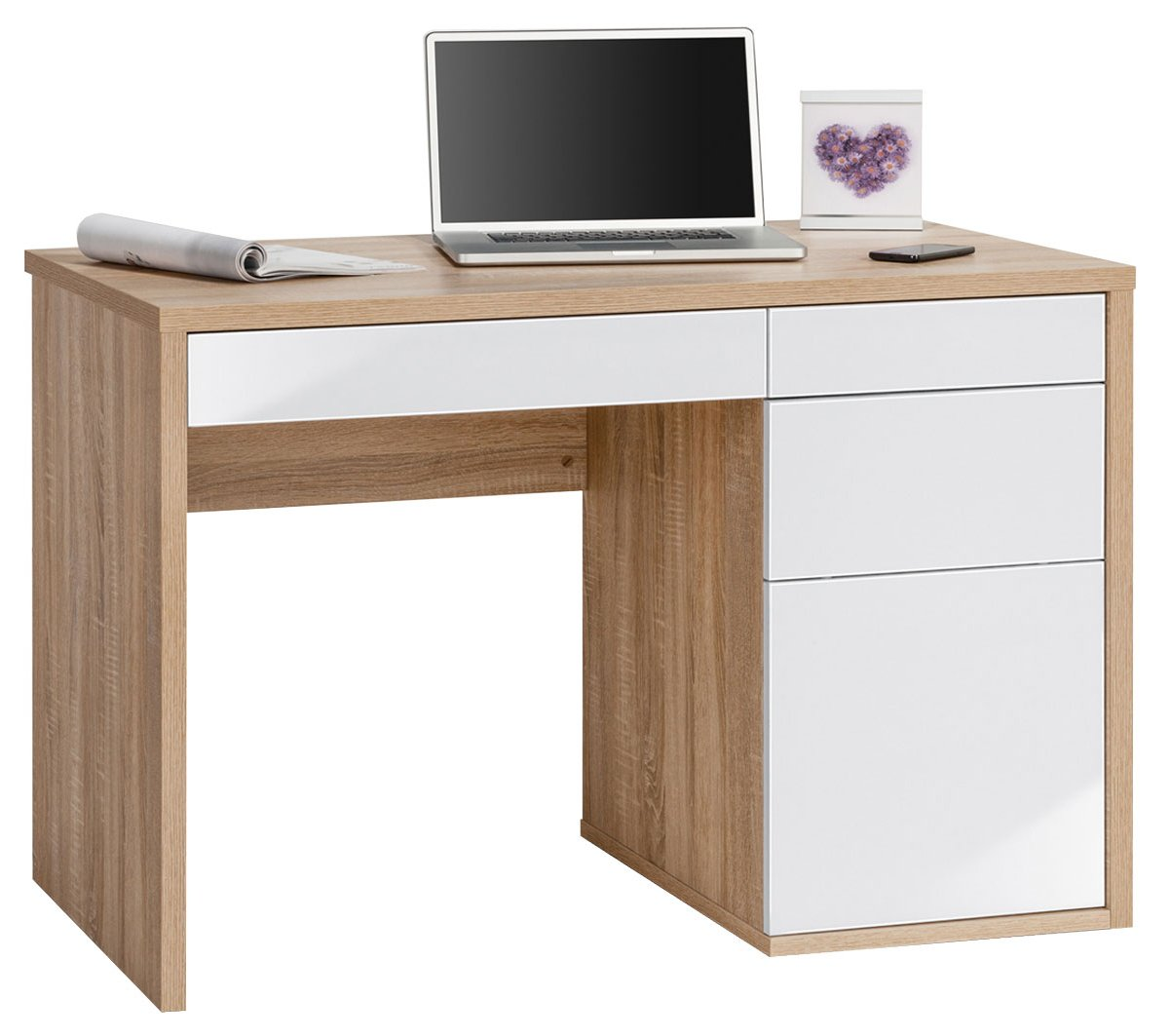 Maja Club Oak White Computer Desk
