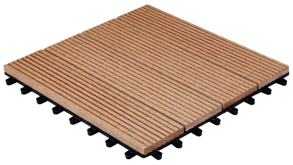 Pack of 11 Composite Wood Deck Tiles