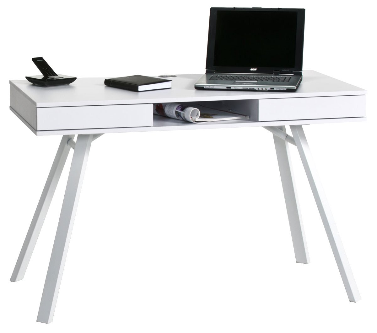 Maja Chelsea White Laptop Desk Main Image