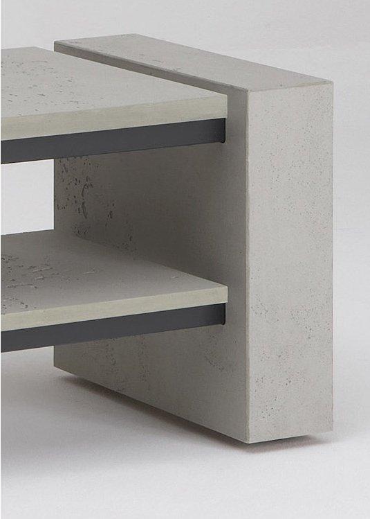 schnepel x line 1400 concrete plasma tv stands. Black Bedroom Furniture Sets. Home Design Ideas