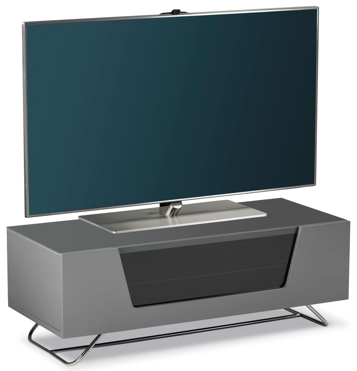 Alphason Chromium Grey Tv Stand For Up To 50 Tvs