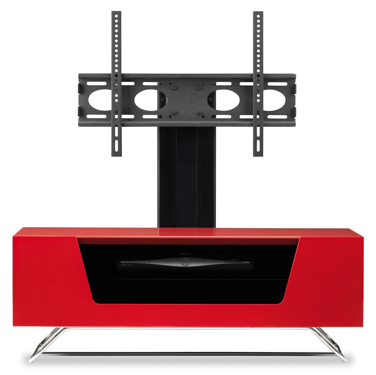 alphason chromium red cantilever tv stand alternative image