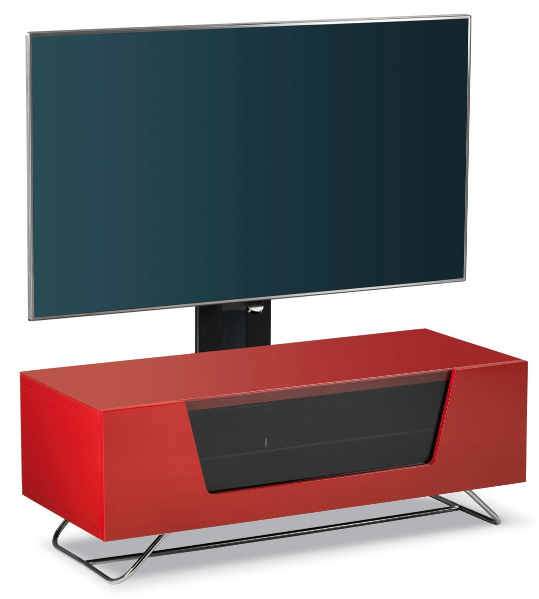 Alphason Chromium Red Cantilever TV Stand Main Image